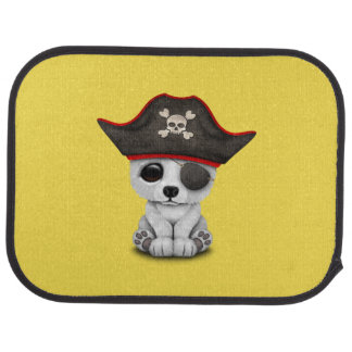 Cute Baby Polar Bear Pirate Car Mat