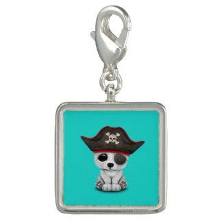 Cute Baby Polar Bear Pirate Charm
