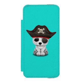 Cute Baby Polar Bear Pirate Incipio Watson™ iPhone 5 Wallet Case