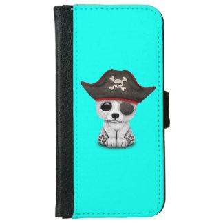 Cute Baby Polar Bear Pirate iPhone 6 Wallet Case