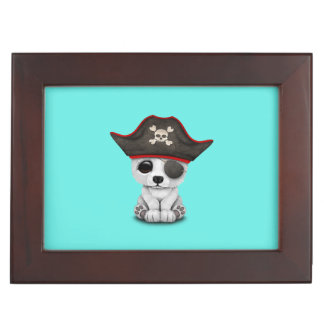 Cute Baby Polar Bear Pirate Keepsake Box