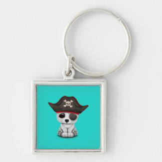 Cute Baby Polar Bear Pirate Keychain