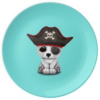 Cute Baby Polar Bear Pirate Plate