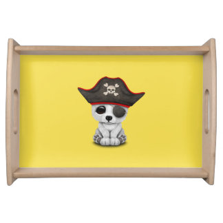 Cute Baby Polar Bear Pirate Serving Tray