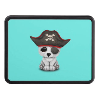 Cute Baby Polar Bear Pirate Trailer Hitch Cover