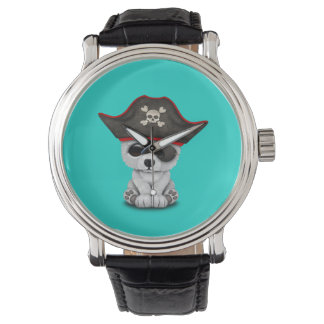 Cute Baby Polar Bear Pirate Watch