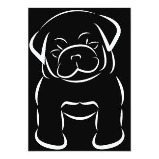 Cute Baby Pug Invitation