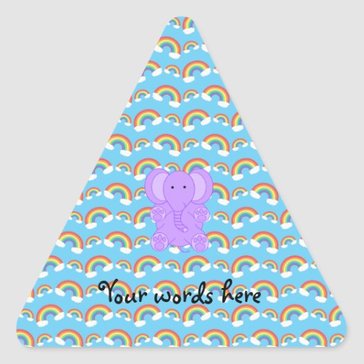 Cute baby purple elephant stickers