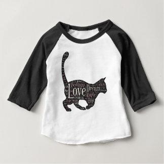 Cute Baby Raglan T-Shirt with cat