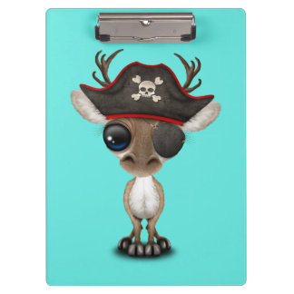 Cute Baby Reindeer Pirate Clipboard