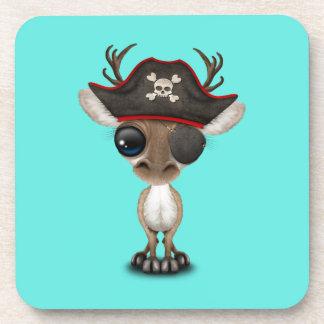Cute Baby Reindeer Pirate Coaster