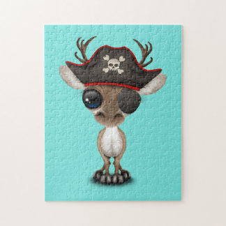Cute Baby Reindeer Pirate Jigsaw Puzzle