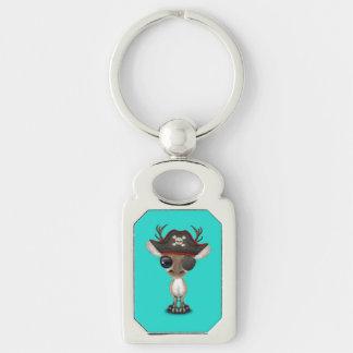 Cute Baby Reindeer Pirate Keychain