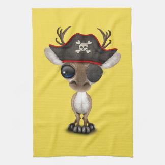 Cute Baby Reindeer Pirate Kitchen Towel