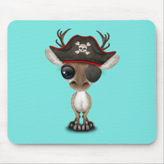 Cute Baby Reindeer Pirate Mouse Pad