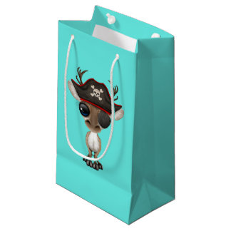 Cute Baby Reindeer Pirate Small Gift Bag