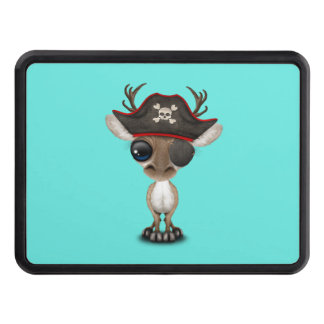 Cute Baby Reindeer Pirate Trailer Hitch Cover