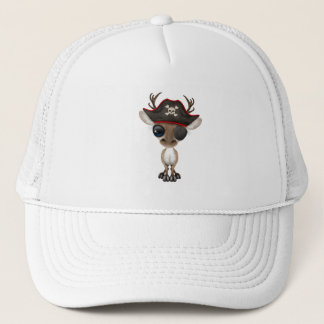 Cute Baby Reindeer Pirate Trucker Hat