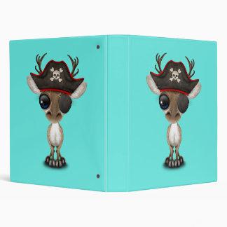 Cute Baby Reindeer Pirate Vinyl Binder