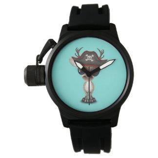 Cute Baby Reindeer Pirate Watch