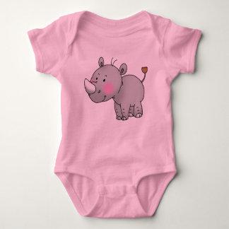 cute baby rhino baby bodysuit