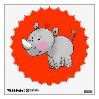 cute baby rhino wall sticker