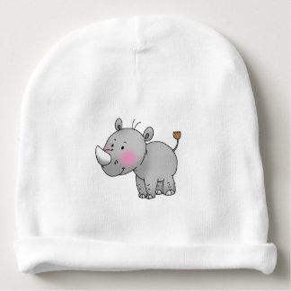 cute baby rhinoceros nursery baby beanie