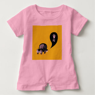 Cute Baby Romper with BLACK TOXIC CAR