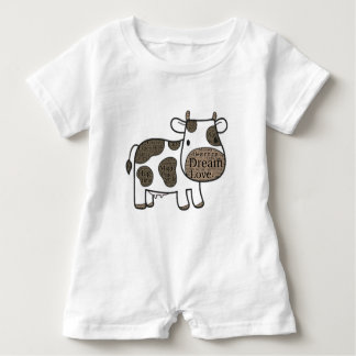 Cute  Baby Romper with cow