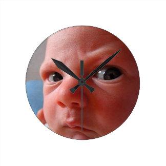 Cute baby round clock