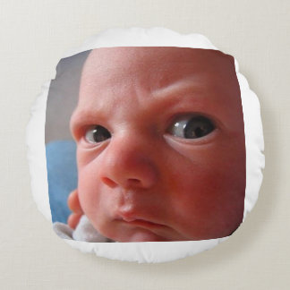 Cute baby round pillow