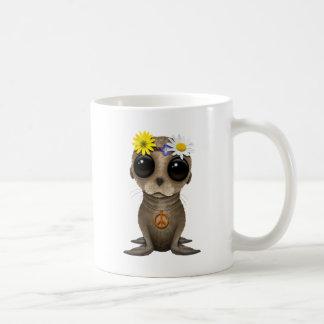 Cute Baby Sea Lion Hippie Coffee Mug