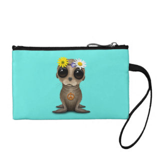 Cute Baby Sea Lion Hippie Coin Purse