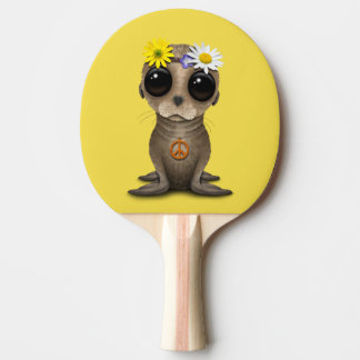 Cute Baby Sea Lion Hippie Ping Pong Paddle