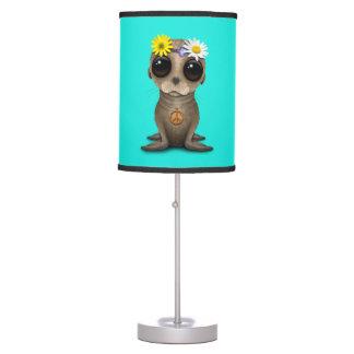 Cute Baby Sea Lion Hippie Table Lamp