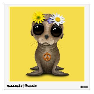 Cute Baby Sea Lion Hippie Wall Sticker