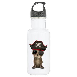 Cute Baby Sea lion Pirate 532 Ml Water Bottle