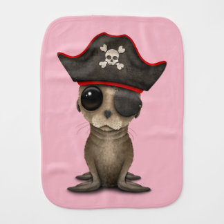 Cute Baby Sea lion Pirate Burp Cloth