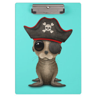Cute Baby Sea lion Pirate Clipboard