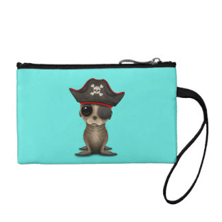 Cute Baby Sea lion Pirate Coin Purse
