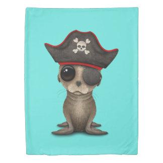 Cute Baby Sea lion Pirate Duvet Cover