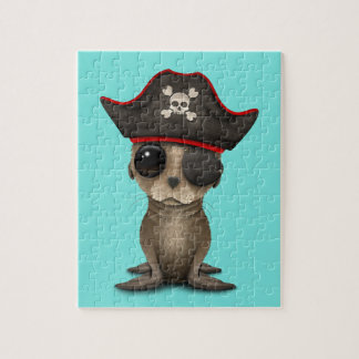 Cute Baby Sea lion Pirate Jigsaw Puzzle