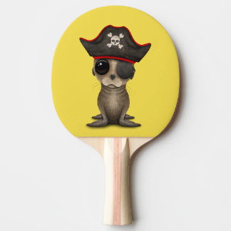 Cute Baby Sea lion Pirate Ping Pong Paddle