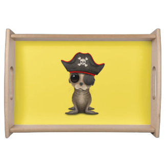 Cute Baby Sea lion Pirate Serving Tray