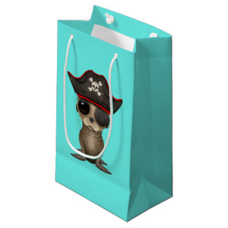 Cute Baby Sea lion Pirate Small Gift Bag