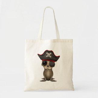 Cute Baby Sea lion Pirate Tote Bag