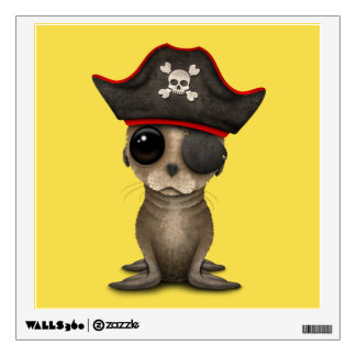 Cute Baby Sea lion Pirate Wall Decal