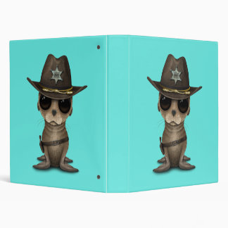 Cute Baby Sea Lion Sheriff Binder