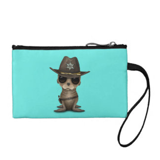 Cute Baby Sea Lion Sheriff Change Purse