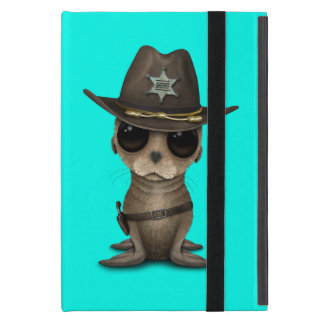 Cute Baby Sea Lion Sheriff Cover For iPad Mini